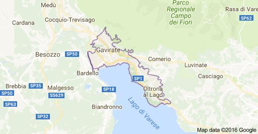 map gavirate Lombardije
